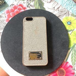 Michael Kors Pave Silver Rhinestones iPhone 6 Case